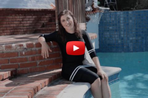 Mayim's Modest & Alluring Burkini-Inspired Swim Fashion Show! (VIDEO)