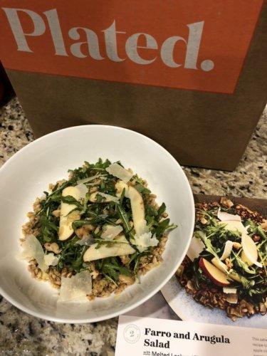 Plated Arugula and Farro Salad