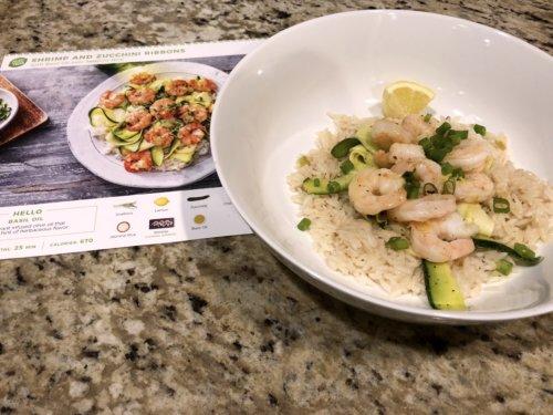 Shrimp and Zucchini Ribbons from HelloFresh
