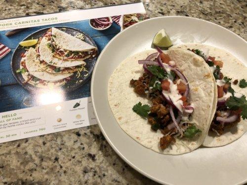 Pork Carnitas Tacos from HelloFresh