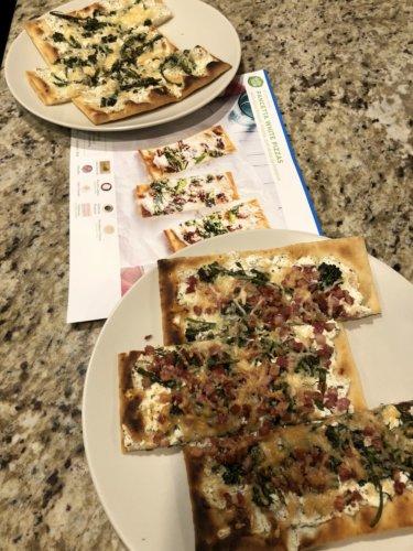 Flatbread pizzas from HelloFresh
