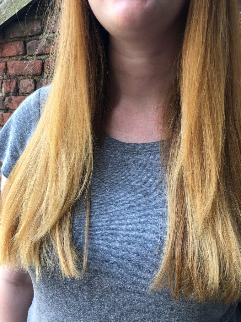 Becca's hair pre-haircut